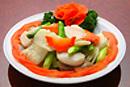 二種海の幸と季節野菜の炒め