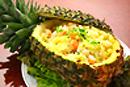 海鮮とパイナップル入り炒飯
